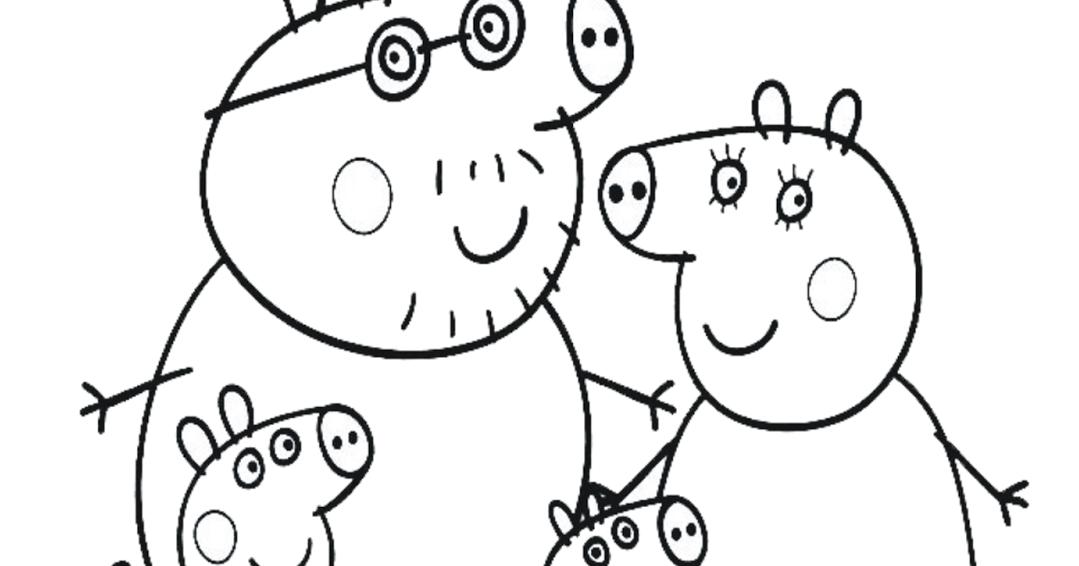 Desenhos Da Peppa Para Imprimir E Colorir