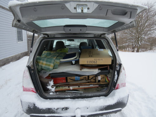loaded hatchback car