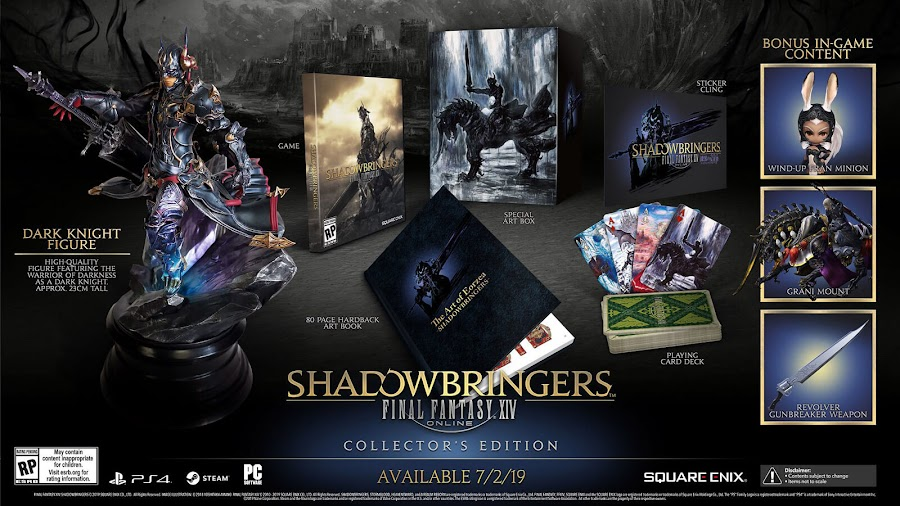 final fantasy xiv shadowbringers dlc collector's edition ps4
