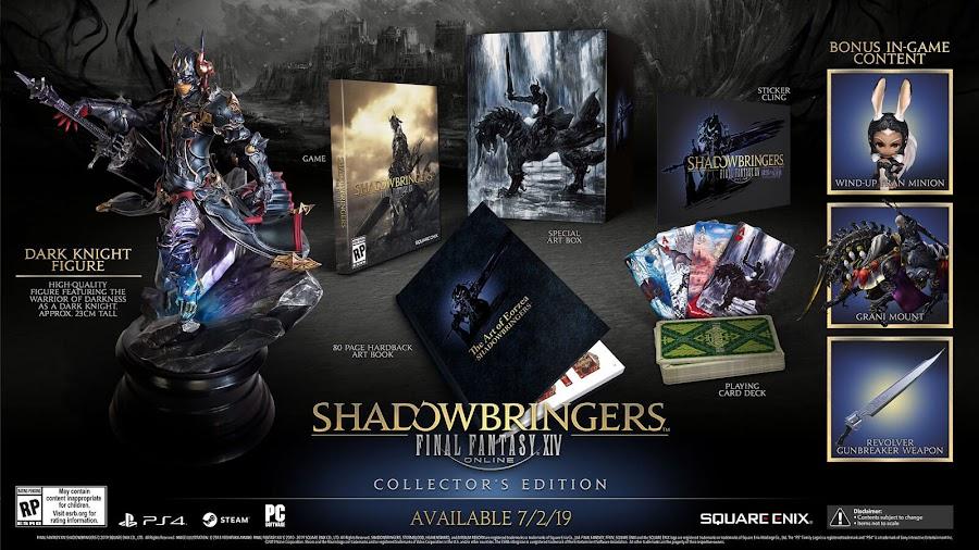 final fantasy xiv shadowbringers dlc collector's edition ps4