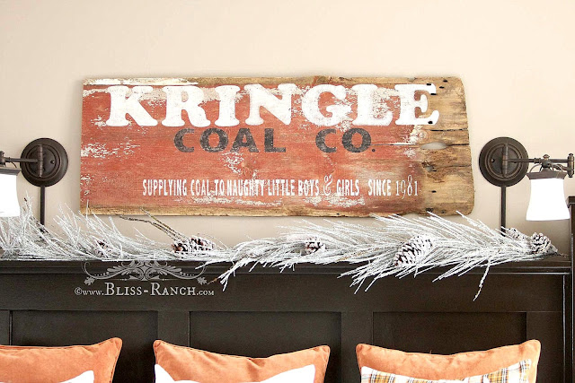 Kringle Coal Sign, Bliss-Ranch.com