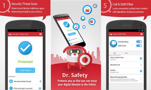 أفضل تطبيق للحماية من فايروسات الأندرويد الخطيرة Dr.Safety