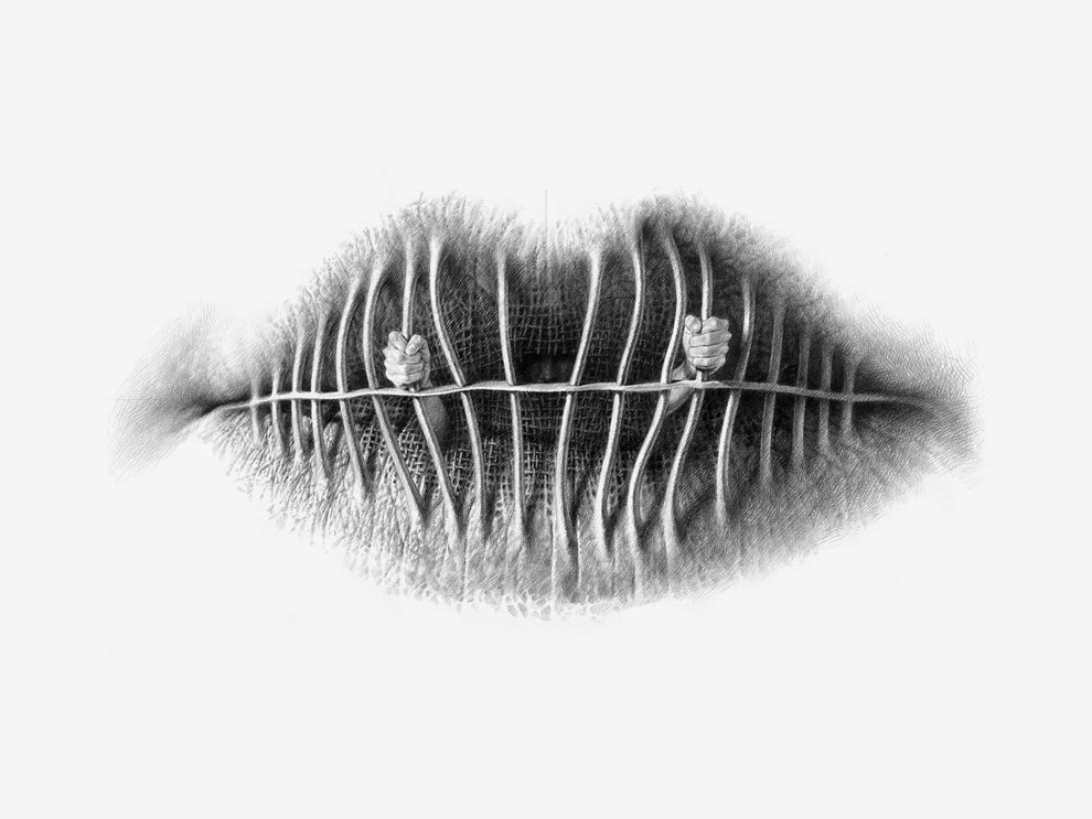 Simply Creative Surreal Pencil Drawings Of Lips By