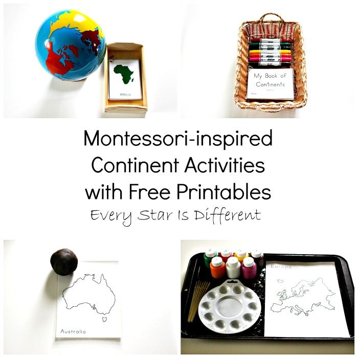 Montessori-inspired Continents Activities with Free Printables