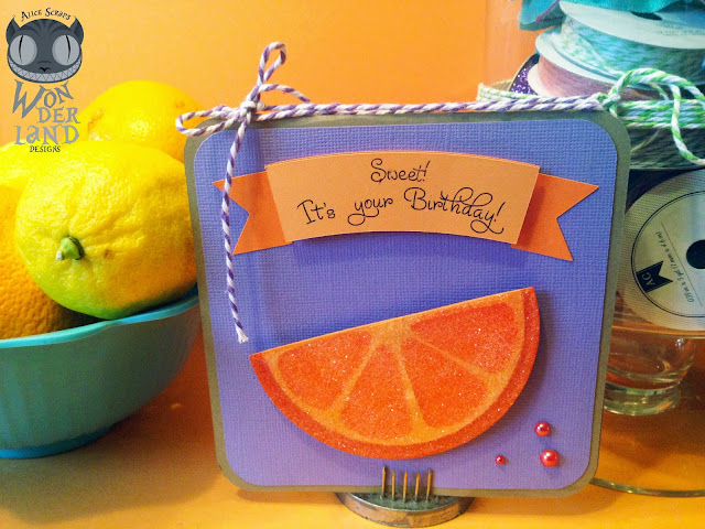 orange, candy, sweet, birthday, card, card making, paper crafting, glitter, pearls