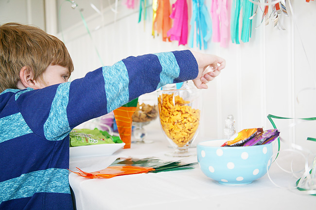 A bunny themed buffet for kids Easter Parties