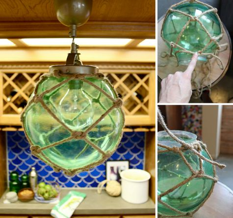 Glass Globe Rope Net Ceiling Lights