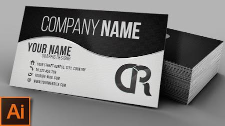 Free photoshop tutorials elegant professional black white business card illustrator tutorial adobe illustrator reheart Choice Image