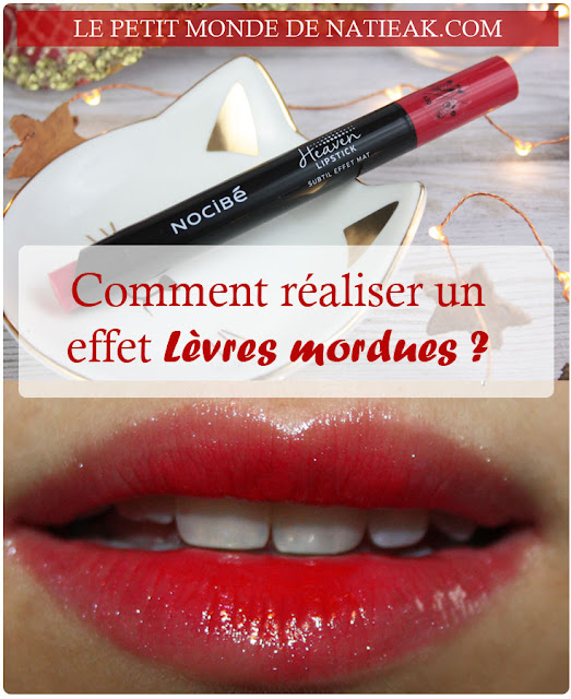 Heaven Lipstick de Nocibé :  L'effet mat en version Take in red