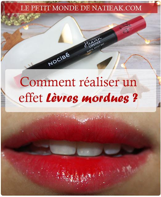 Heaven Lipstick de Nocibé :  L'effet mat en version Take in red