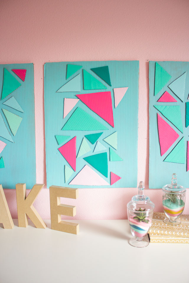 Fancy Make home decor from a cardboard box love this cardboard craft idea