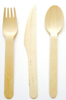 wooden eco friendly silverware