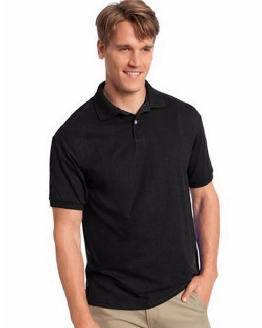 Hanes 054X Mens Comfortblend Jersey Polo -Black – M