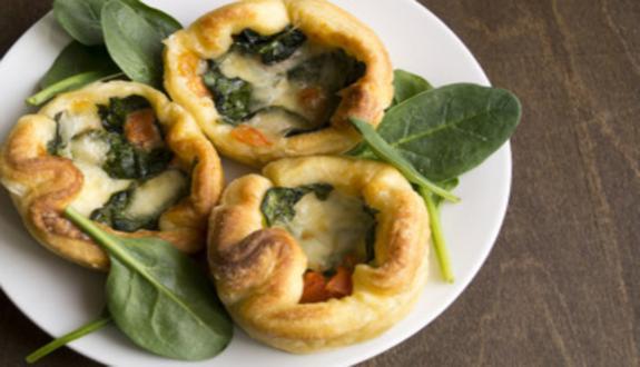 Canastitas rellenas de verduras