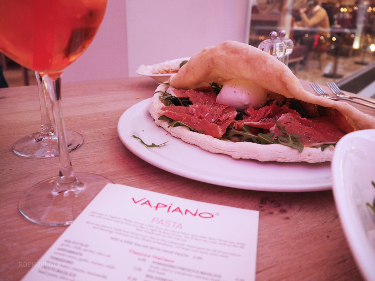 Vapiano Manchester Food Review on Rock On Holly Blog