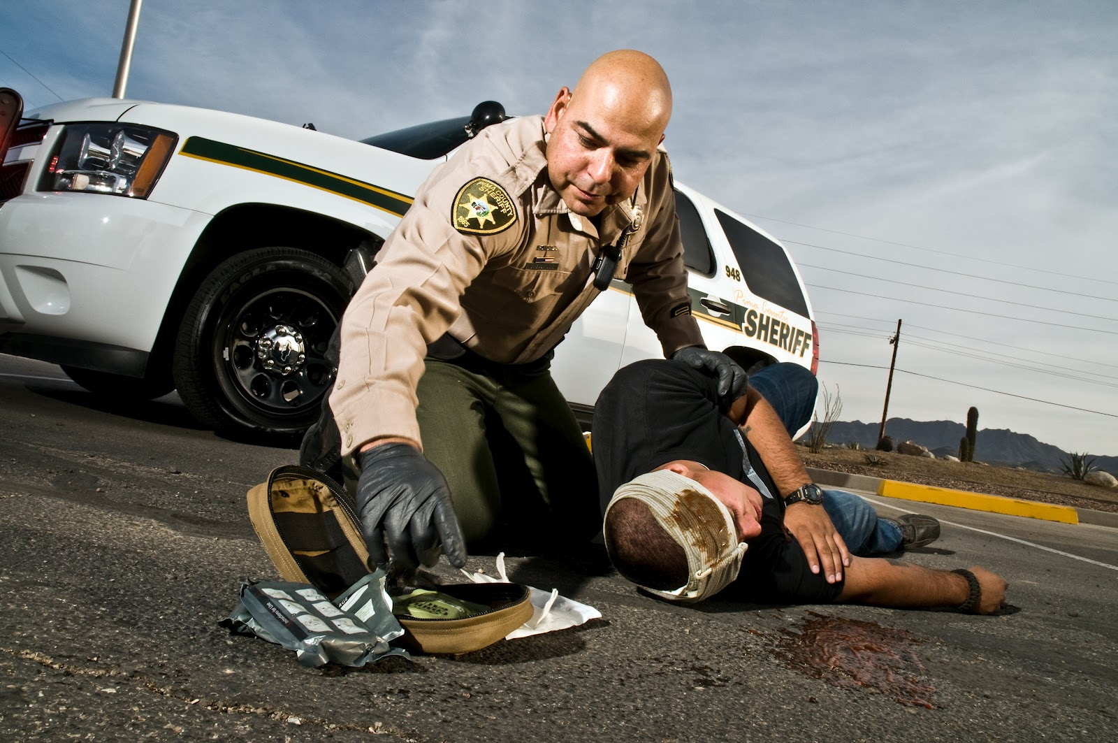 Cover Shoot with Pima County Sheriff's Deputies