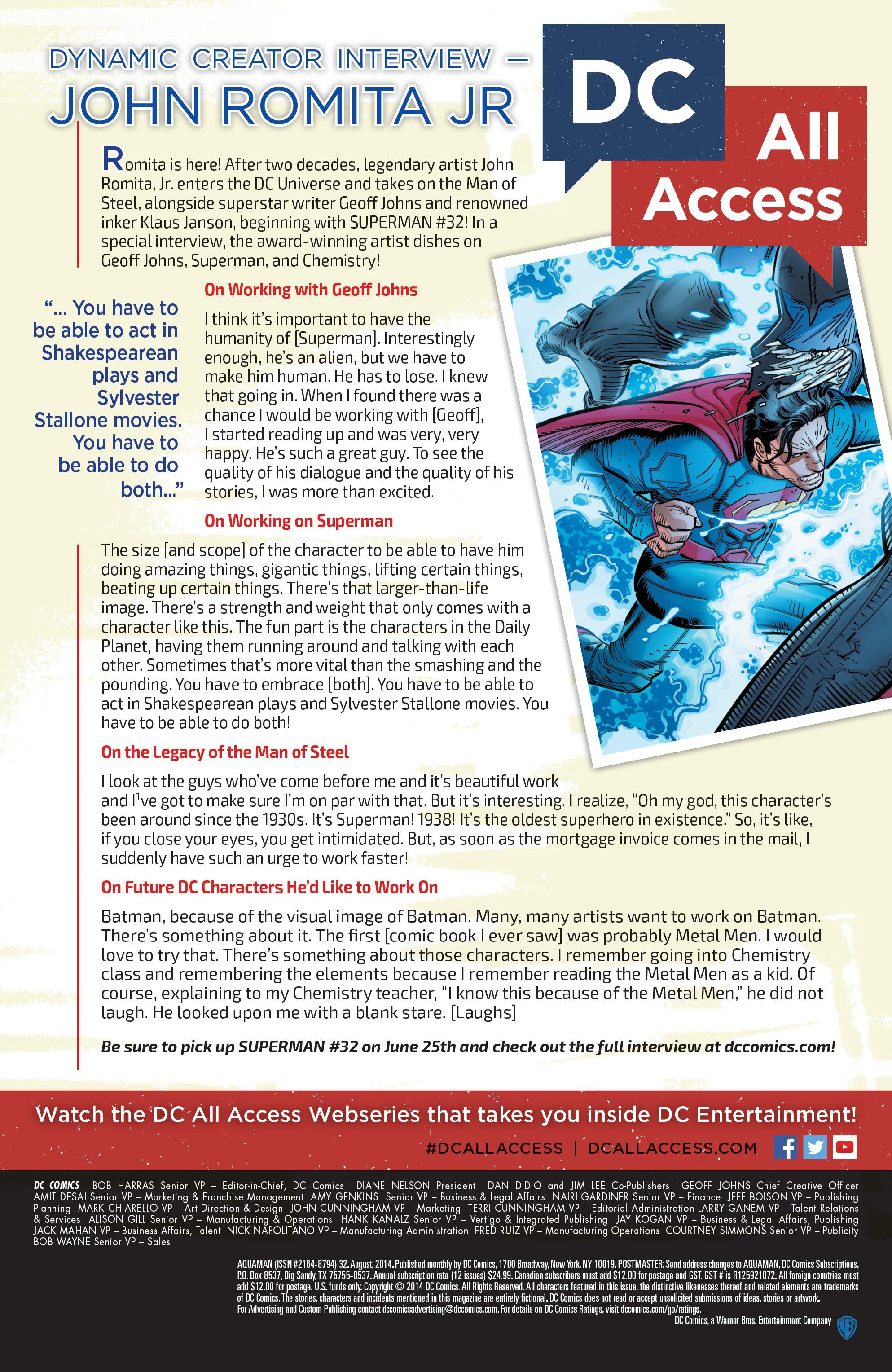 Read online Aquaman (2011) comic -  Issue #32 - 28