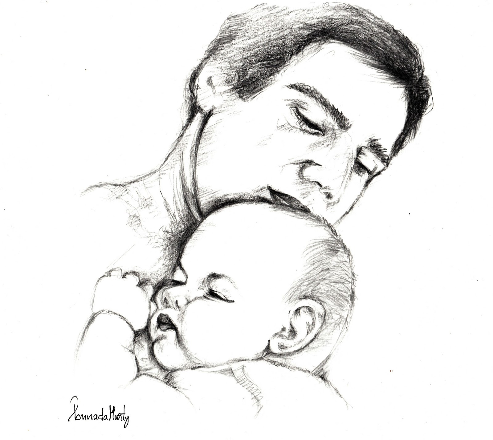 Sketches And Drawings Fathers Day Greetings