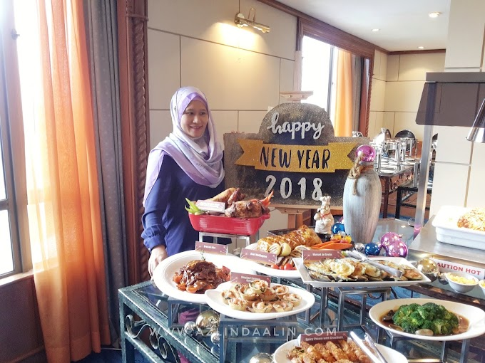 JOM SAMBUT NEW YEAR AMBANG 2018 DI CLUB LOUNGE, LEVEL 18 GRAND BLUEWAVE DENGAN MENU BARU NEW YEAR EVE DINNER