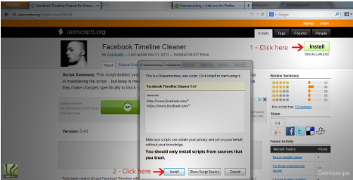 Facebook Activity Remover
