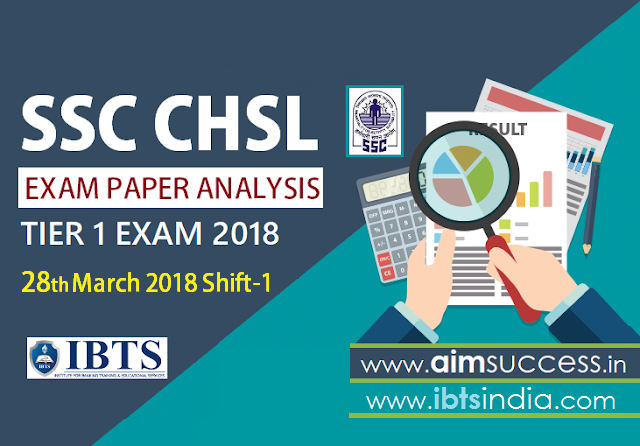 SSC CHSL Tier-I Exam Analysis 28th March 2018: Shift - 1