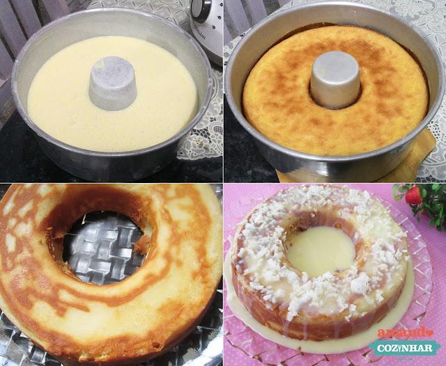 Bolo de Leite condensado e coco - bolo pega marido