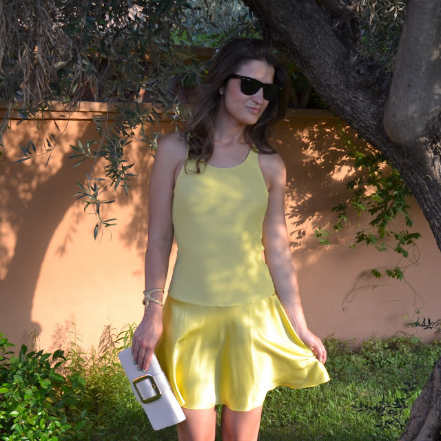 ARMANI YELLOW DRESS
