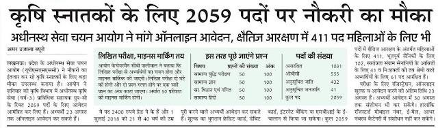 2059 प्राविधिक सहायकों की भर्ती शुरू, 23 अगस्त तक करें आवेदन: कृषि स्नातक होंगे आवेदन के पात्र