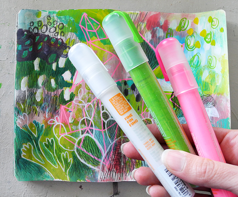 Testing out Montana Paint pens, paint pens review, Art pens, Art markers