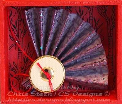 Altered Shadow Box, Recycled Art, Asian art project