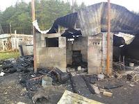 (ФОТО)В Санаторий Глядены произошел серьезный пожар, который мог уничтожить весь поселок.