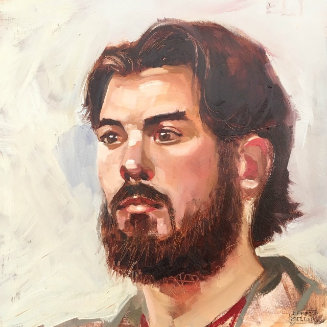 portrait painting, beard, figurative art