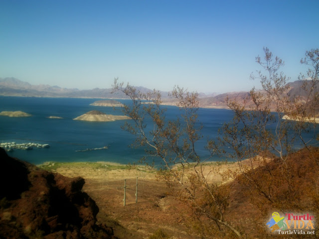 The Historic Railroad Hiking Trail includes amazing views of Lake Mead