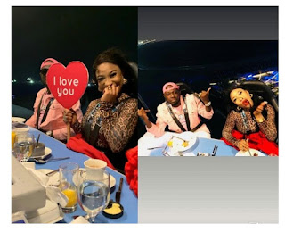 Tonto Dikeh Shows Off Handsome Man During Romantic Dinner In Dubai [Photos]