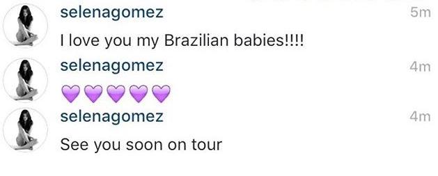 "Selena Gomez confirma que el ""Revival Tour"" llegará a Latinoamérica."