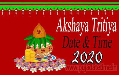 2020 Akshaya Tritiya Puja Date & Time