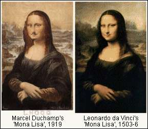 Surreal Art: Marcel Duchamp Dadaism Mona Lisa