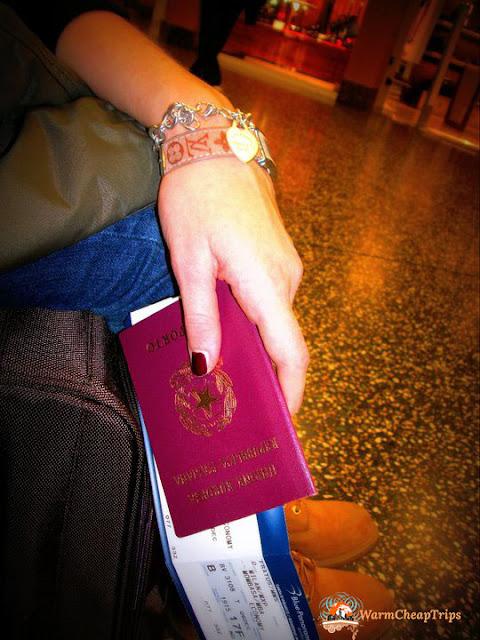 Passaporto, attesa, attesa aerporto