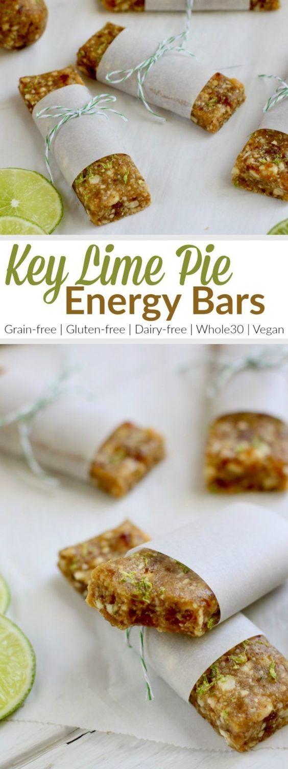 Key Lime Pie Energy Bars