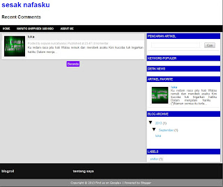 valid html5 dan css3 template blogger