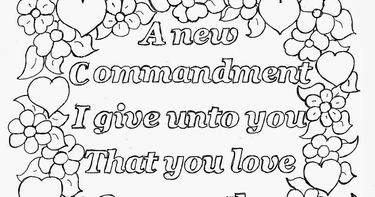 Coloring Pages for Kids by Mr. Adron: Love One Another