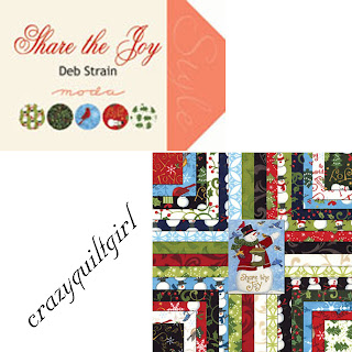 Moda SHARE THE JOY Christmas Quilt Fabric by Deb Strain