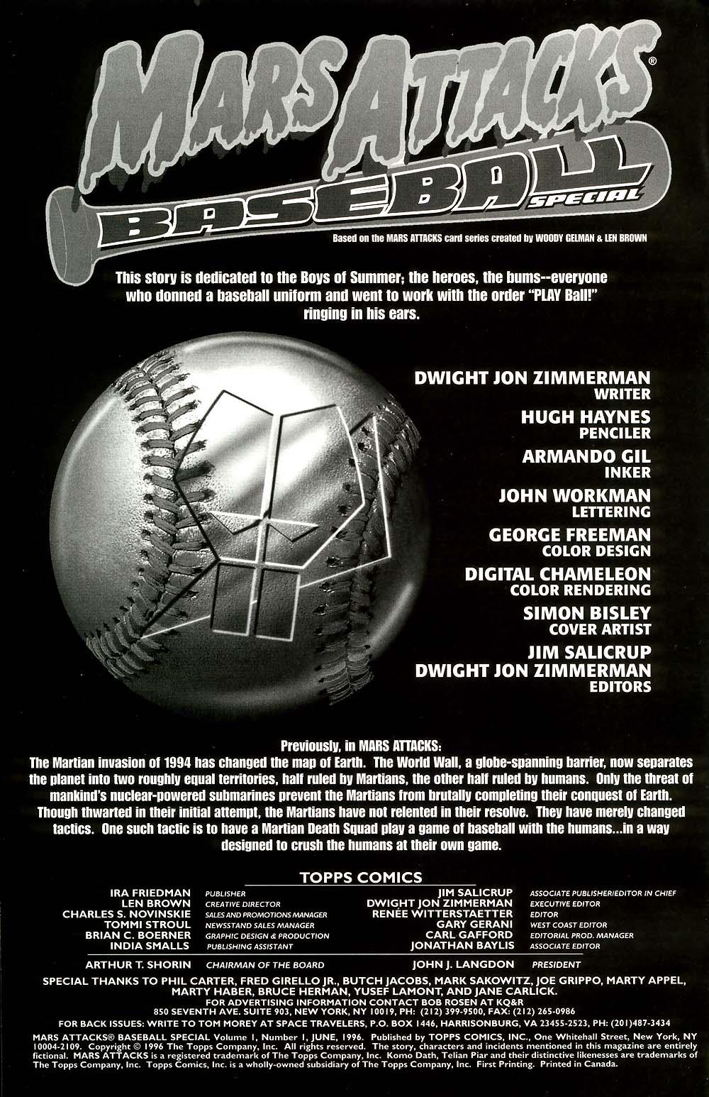 Read online Mars Attacks Baseball Special comic -  Issue # Full - 2