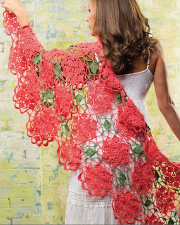 Bobbie's Lace Wrap -Easy, Breezy Crochet Lace cover - book review on CGOANow!
