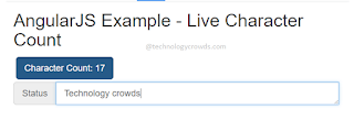 Live Character Count using AngularJS