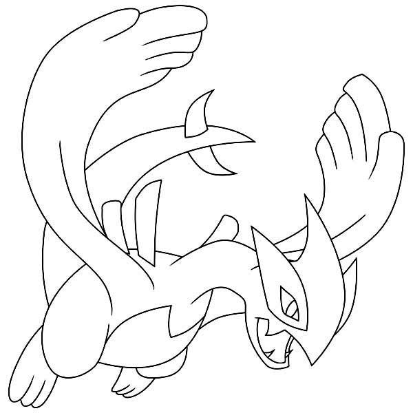 lugia coloring pages Shadow Lugia Coloring Page   Free Printable Coloring Pages for Kids lugia coloring pages