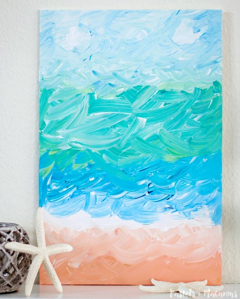 Abstract Sea Painting Tutorial with Brush Strokes