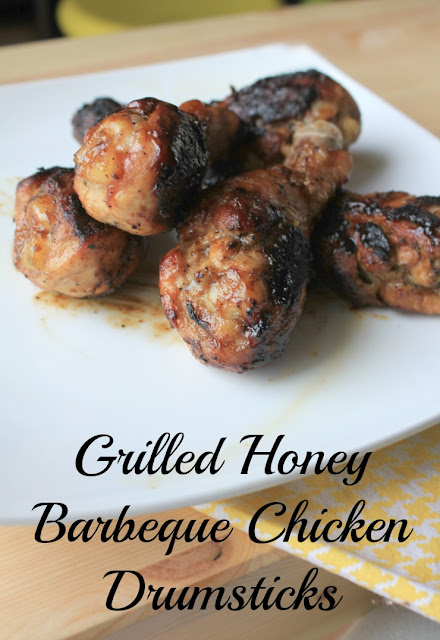 Grilled Honey Barbeque Chicken Drumsticks #VIVACleansLikeCloth #ad