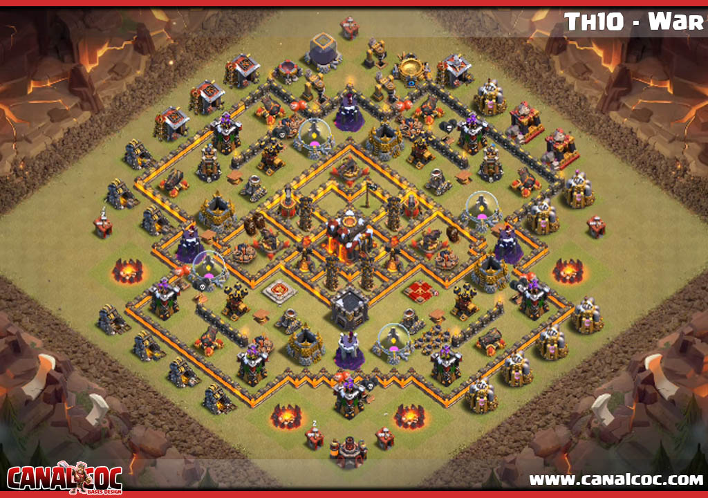 Base Coc Th 10 War 2019 8