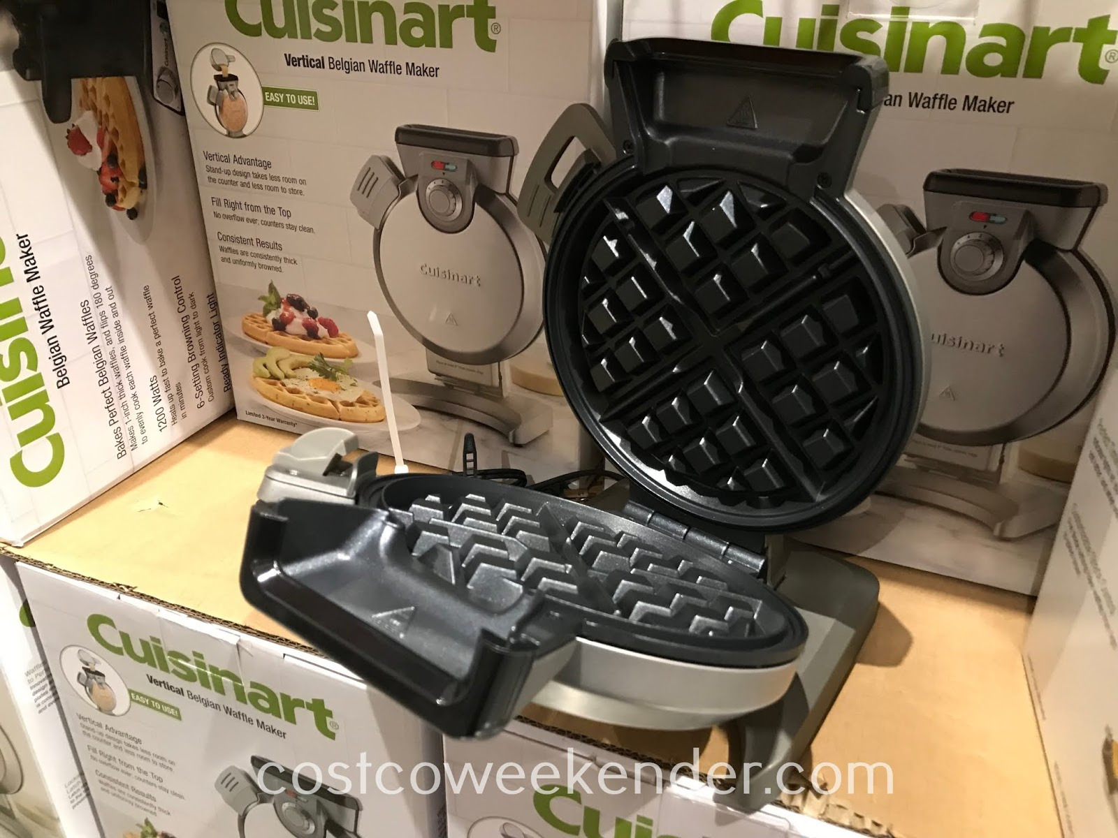 You won't want to skip the most important meal of the day with the Cuisinart Vertical Belgian Waffle Maker